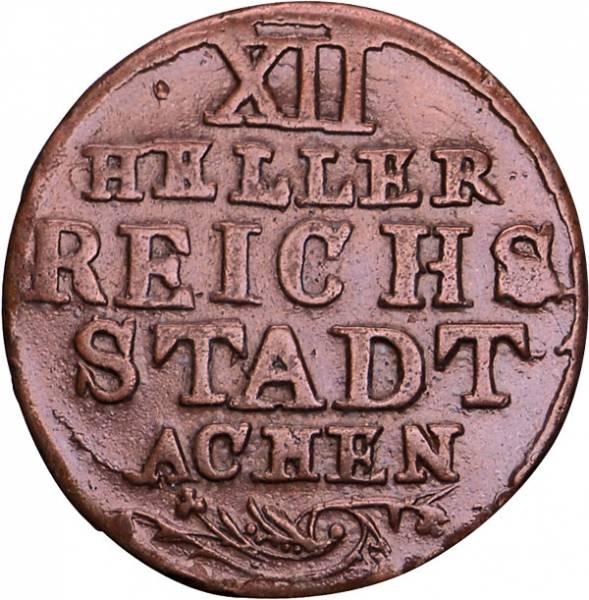 12 Heller Aachen Adler 1757-1798 Sehr schön