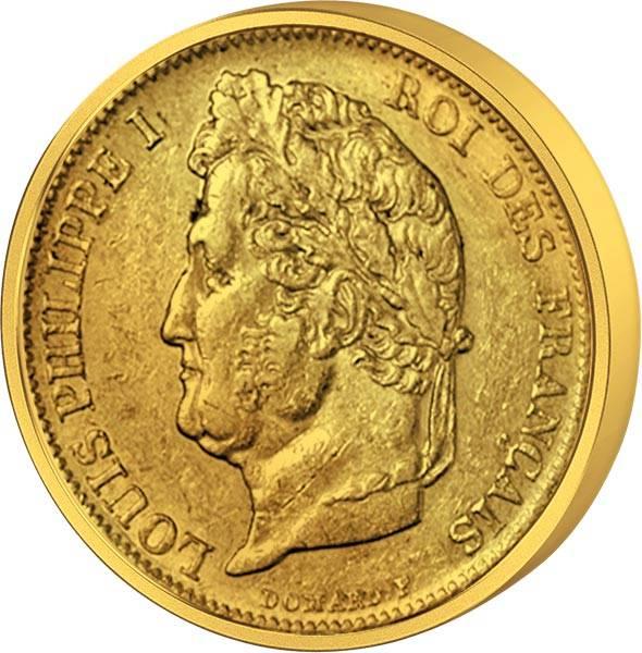 20 Francs Frankreich Louis Philippe mit Lorberkranz 1830 - 1848