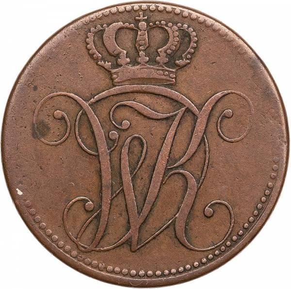 4 Heller Hessen-Kassel Kurfürst Wilhelm I. 1815 - 1821