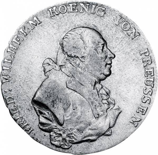 1 Taler Preußen König Friedrich Wilhelm II. 1790-1797 Sehr schön