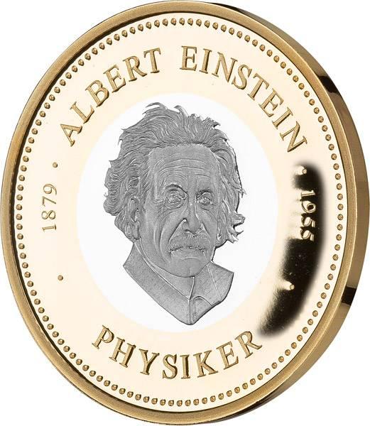 Gedenkprägung Albert Einstein