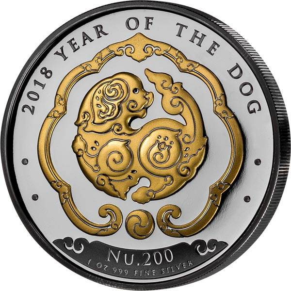 1 Unze Bhutan Hund 2018 Golden Enigma Edition