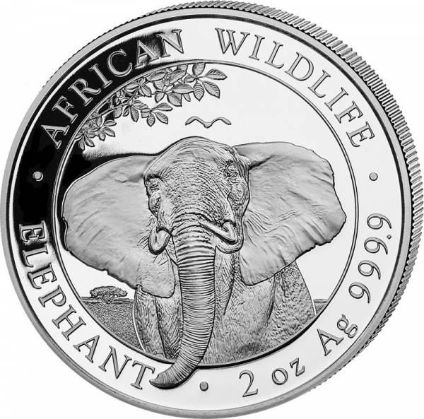 2 Unzen Silber Somalia Elefant 2021