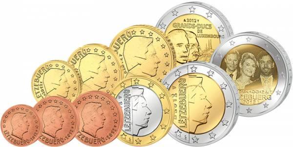 Euro-Kursmünzensatz Luxemburg inkl. zwei 2-Euro-Gedenkmünzen 2012