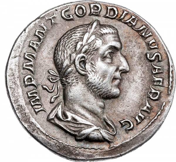 Römischer Kaiser Gordanius I. in Silber