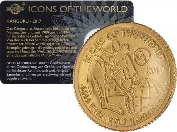 1/200 Unze Gold Ruanda Känguru 2017