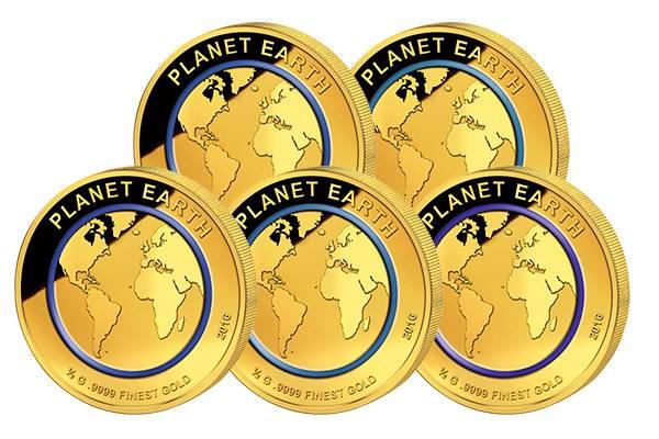 5 x 100 Francs Niger Planet Erde