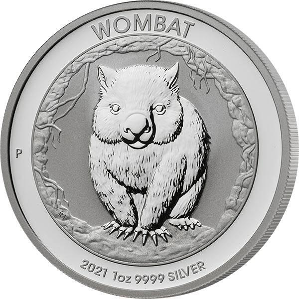 1 Unze Silber Australien Wombat 2021