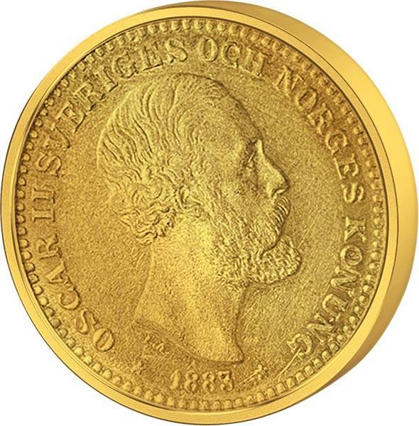 10 Kronen Schweden König Oskar II. 1883