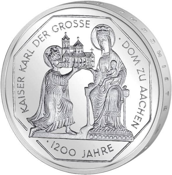 10 DM BRD  Karl der Große  2000 Unsere Wahl vorzüglich