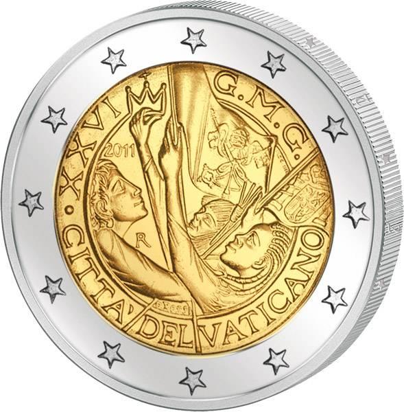 2 Euro Vatikan Weltjugendtag Madrid 2011 Stempelglanz