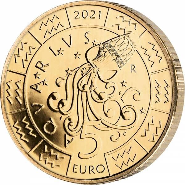 5 Euro San Marino Tierkreiszeichen Wassermann 2021