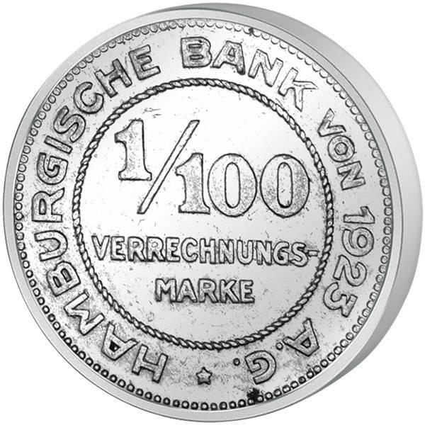 1/100 Mark Notgeld Freie und Hansestadt Hamburg sehr schön bis vorzüglich
