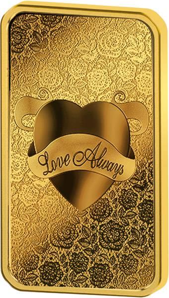 1 Unze Goldbarren Love Always