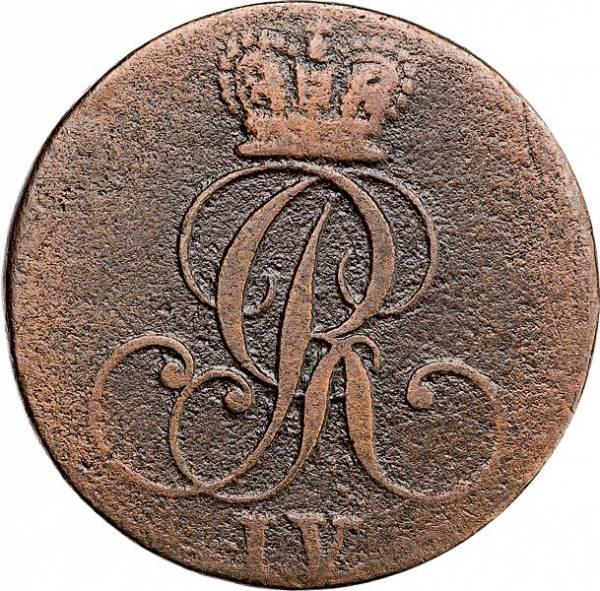 1/4 Stüber Hannover König Georg IV. 1823-1825
