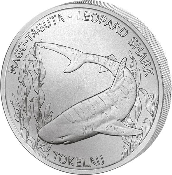 5 Dollars Tokelau Leopardenhai 2018