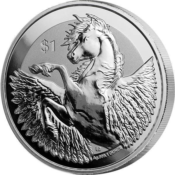 1 Unze Silber Britische Jungferninseln Pegasus 2019
