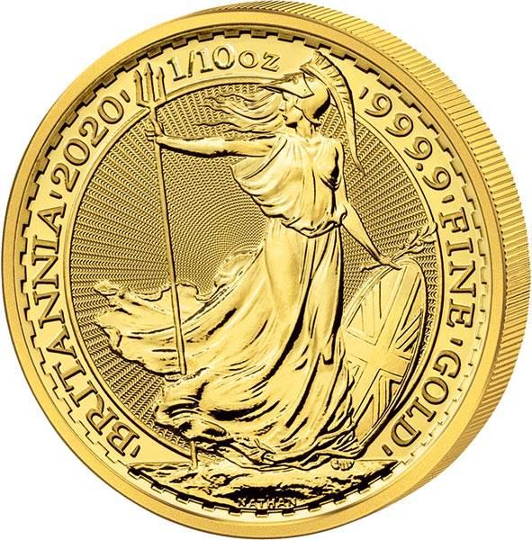 1/10 Unze Gold Großbritannien Britannia 2020