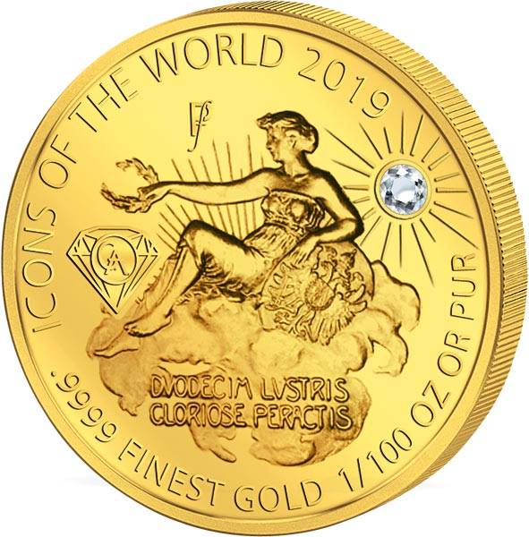 10 Francs Ruanda Gold Affordable Diamond Edition Venus in den Wolken 2019