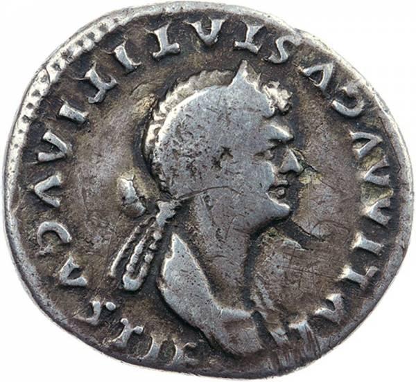 Denar Römisches Kaiserreich Kaiserin Julia Titi 88 n.Chr.