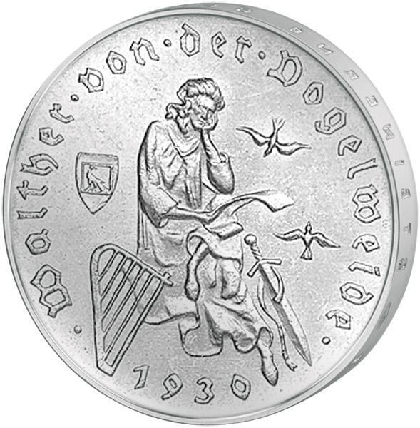 3 Mark Weimarer Republik Walther von der Vogelweide 1930 u. W. Vorzüglich