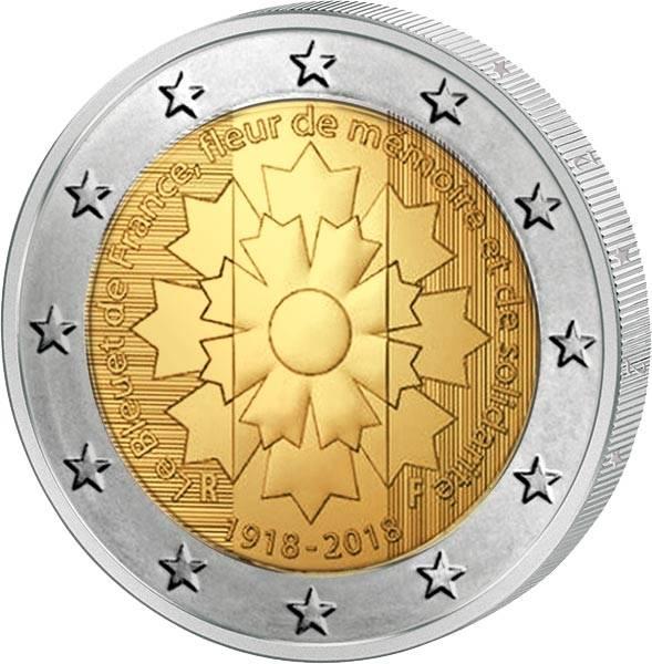 2 Euro Frankreich Kornblume 2018