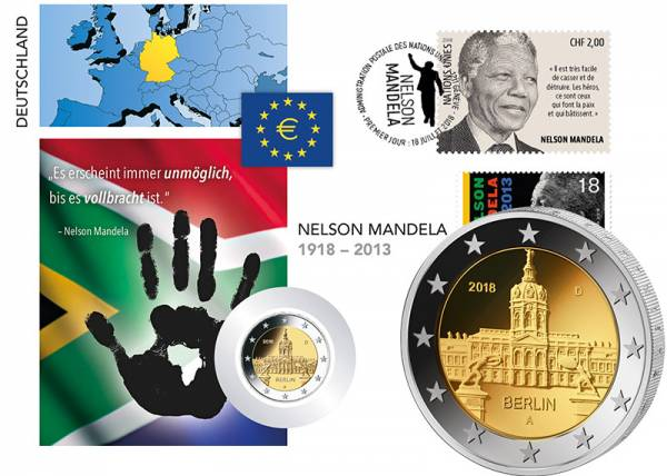 2 Euro Numisbrief BRD Nelson Mandela 2018