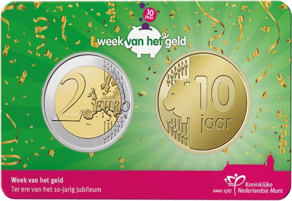 2 Euro Niederlande inkl. Gedenkprägung 10 Jahre Woche des Geldes 2021