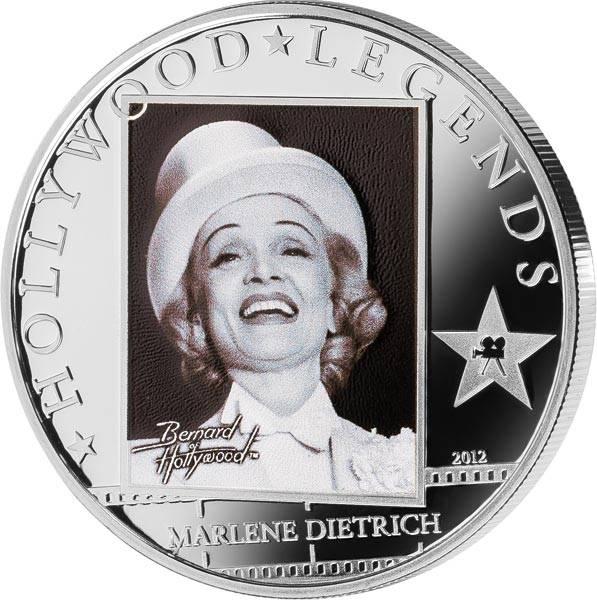 5 Dollars Cook-Inseln Hollywood-Legenden Marlene Dietrich 2012