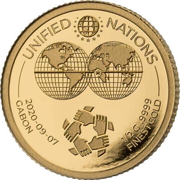 1.000 Francs Gabun Handkreis 2020
