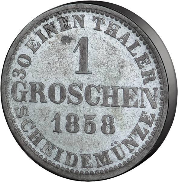 Groschen Hannover König Georg V. 1858-1866 Sehr schön