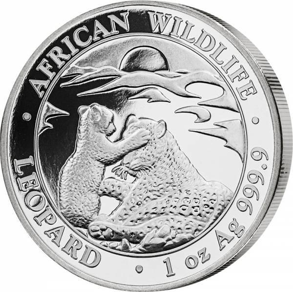 1 Unze Silber Somalia African Wildlife Leopard 2019