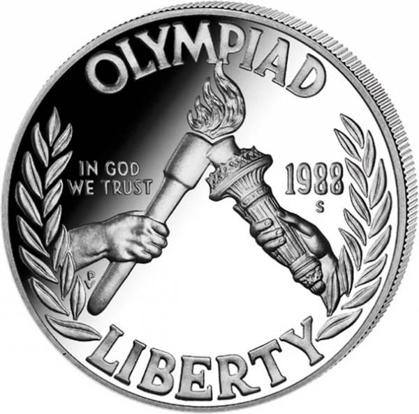 1 Dollar USA Olympiade Seoul 1988 Polierte Platte
