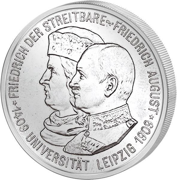 2 Mark Sachsen Universität Leipzig 1909 Vorzüglich