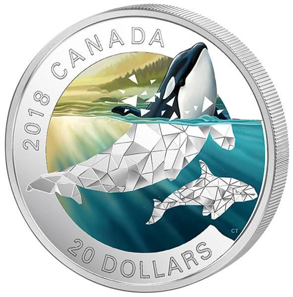 20 Dollars Kanada Geometrische Fauna Orca 2018