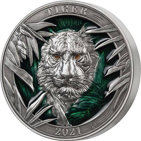 5 Dollars Barbados Tiger 2021