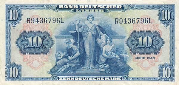 10 DM Währungsreform-Note