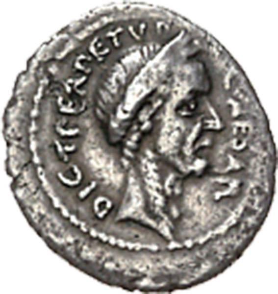 Denar Konsul Caius Julius Caesar 100-44v.Chr. Rom, ss