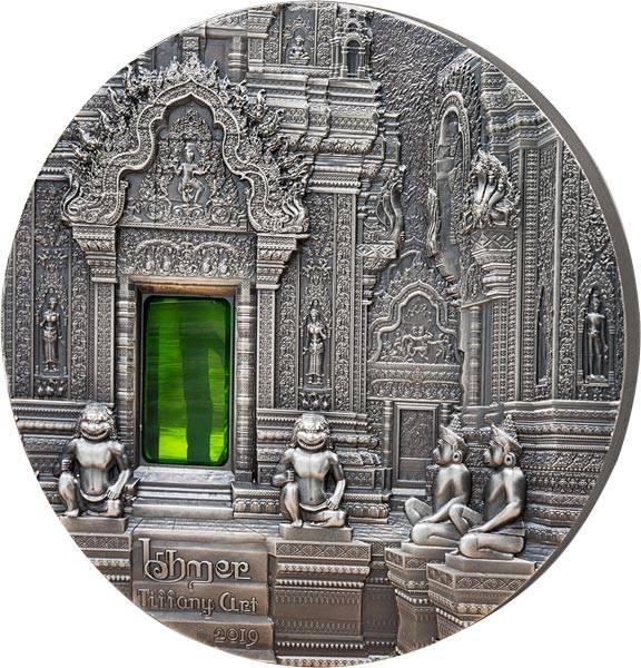 10 Dollars Palau Tiffany Art Khmer-Architektur von Angkor 2019