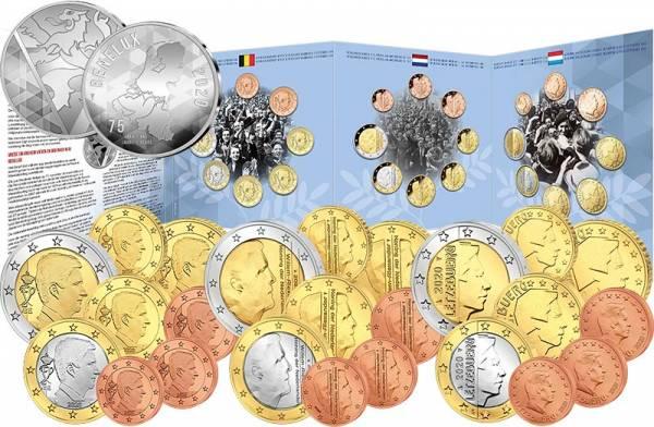 Euro-Kursmünzensätze BeNeLux 75-jähriges Friedensjubiläum 2020