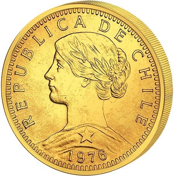 20 Pesos Chile Freiheitskopf 1926 - 1980