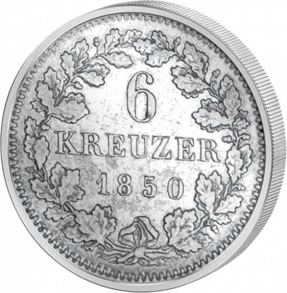 6 Kreuzer Bayern Wappen 1839-1856 Sehr schön