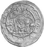 Brakteat Erzbischof Wichmann von Seeburg 1152-92 Silber sehr schön