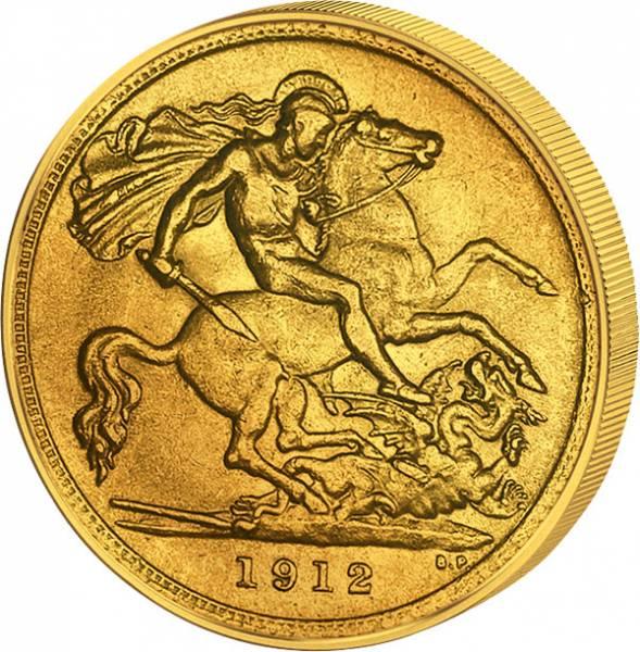 1/2 Sover. 1/2 Sovereign Großbritannien King Georg V. 1911-1926  Sehr schön