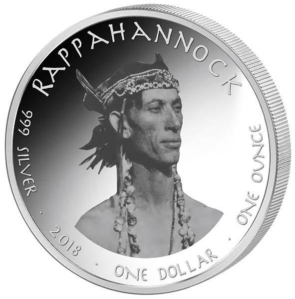 1 Dollars USA Native State Dollar Rappahannock Virginia Fledermaus 2018