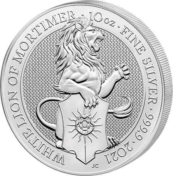 10 Unzen Silber Großbritannien Löwe von Mortimer 2021