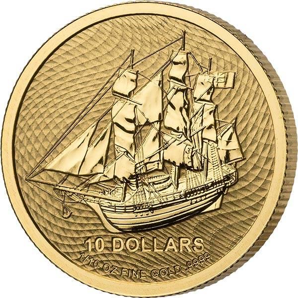 1/10 Unze Gold Cook-Inseln Bounty 2021
