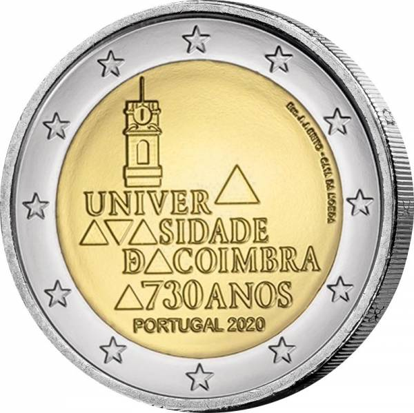 2 Euro Portugal 730. Jahrestag der Gründung der Universität von Coimbra 2020