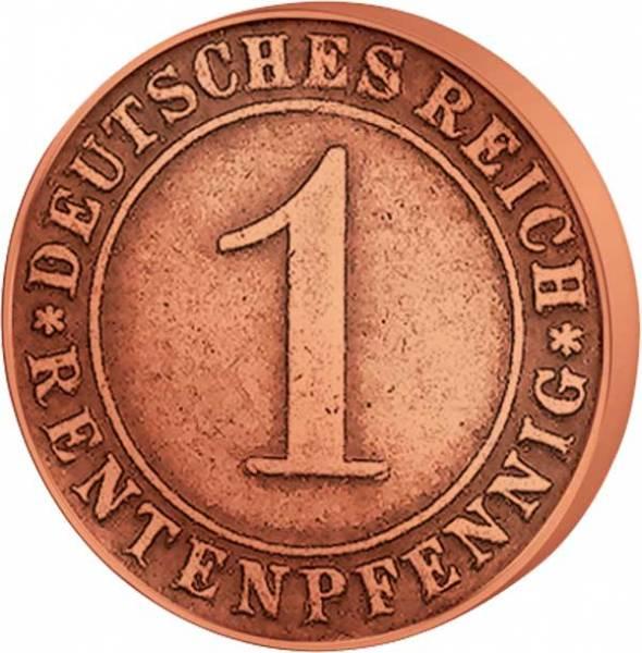 1 Pfennig Weimarer Republik 1923-1924 Sehr schön
