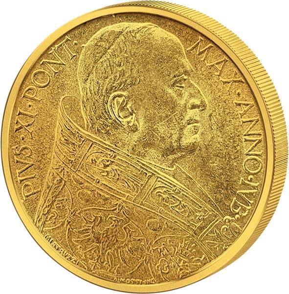 Vatikan 100 Lire Papst Pius XI. Heiliges Jahr 1933-1934